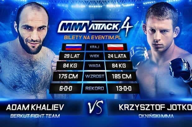 Адам Халиев выступит против Кшиштофа Йотко на MMA Attack 4