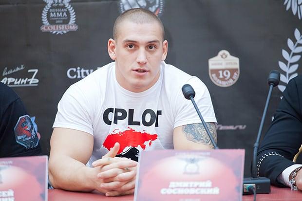 Дмитрий Сосновский выступит в Москве 8 ноября на Oplot Challenge 105