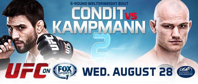 UFC Fight Night 27: Карлос Кондит задавил Мартина Кампманна в четвёртом раунде