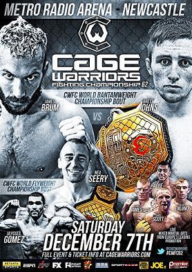 На Cage Warriors 62 состоятся два титульных поединка