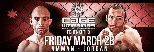 Бой Абу Азайтара с Джеком Маршменом возглавит Cage Warriors Fight Night 10
