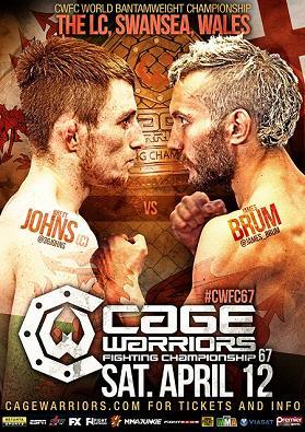 Cage Warriors 67: Бретт Джонс будет защищать свой титул против Джеймса Брама