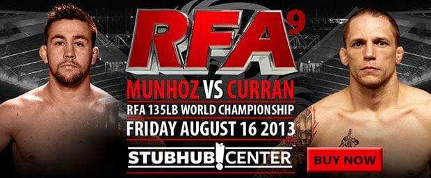 Результаты RFA 9: Джефф Курран завершил спортивную карьеру